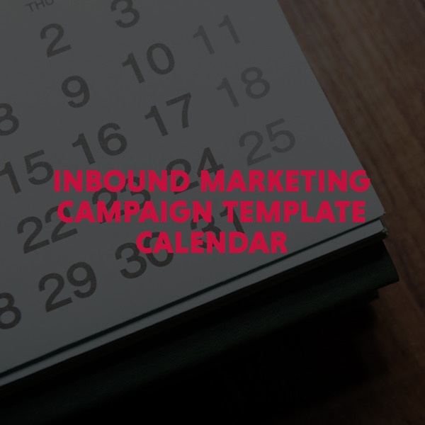 Inbound Marketing Campaign Template Calendar