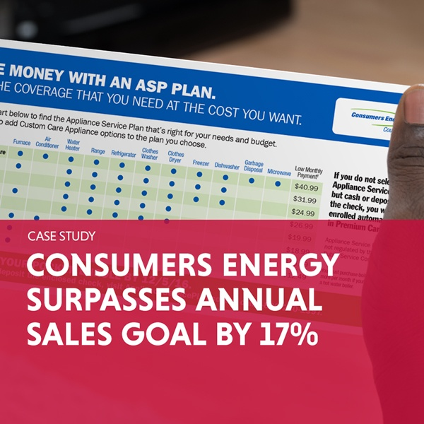 Consumers Energy Surpasses Annual Sales Goal by 17%